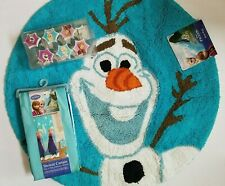 New Disney Frozen Olaf Bath Rug Shower Curtain & Hooks