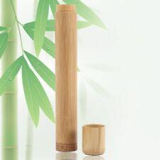 Hand Made Eco Friendly Toothbrush Holder Tube Shape Bamboo Bathroom Travel Case