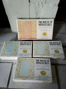The House of Miniatures DollHouse Lot 3 Windows No. 41210 Factory Sealed Door
