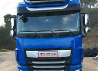 DAF XF 106 Truck Stainless Steel Name Logo Grill Badge '' STAINLESS STEEL''