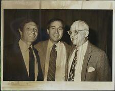 Bill Haber, Brandon Tartikoff, George Christy ORIGINAL PHOTO HOLLYWOOD Candid