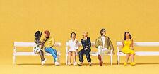 Preiser 10180 HO Sitzende Paare mit Bänke  6 Figuren