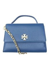 NWT Tory Burch Mercer Chain Wallet Cross-Body Clutch Leather Tidal Wave Color
