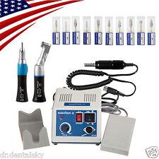 USA! Dental Lab Marathon Electric Micro Motor 35Krpm +2 Handpieces +Carbide Burs