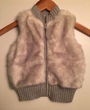 GYMBOREE Girls Enchanted Fairytale sz 4 Cozy Zip Gray Faux-Fur Vest Holiday NWT!
