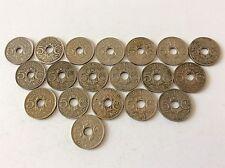19 pièces de 5 cent. Lindauer petit module cupronickel de 1921 à 1938 TTB SUP