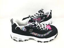 NEW! Skechers Women's D'LITES INTERLUDE Lace Up Shoes Black/Multi #11978 176E kk