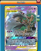 DIGITAL Trevenant  & Dusknoir GX TAG TEAM pokemon tcg online
