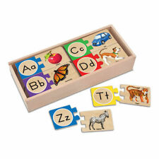Melissa & Doug Alphabet Wooden Puzzle Cards Mnd2541