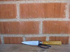 """Vintage 3 1/4"""" Blade *** LF & C - AETNA WORKS *** Nogent Carbon Paring Knife USA"""