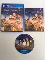 Civilization VI 6 PS4- Excellent Condition