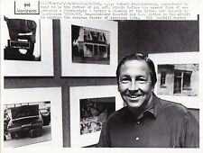 ROBERT RAUSCHENBERG Pop Artist Painter * ICONIC VINTAGE 1982 press photo ARTS