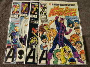 1984 MARVEL Comics WEST COAST AVENGERS #1-4 Complete Limited Series Set - VF/NM