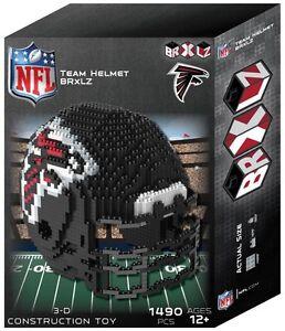 Atlanta Falcons BRXLZ Team Helmet 3-D Puzzle Construction Toy New - 1490 Pieces
