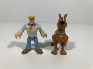 Fisher Price Imaginext Scooby-Doo Freddy Fred And Scooby Figures Lot Of 2 HB