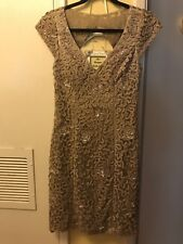 SUE WONG NOCTURNE Beaded Coctail Weeding Party Dress Size 6
