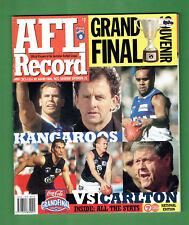 #T8.  1999  AFL  GRANDFINAL SOUVENIR RECORD MAGAZINE - KANGAROOS V CARLTON
