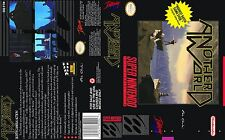 Another World Super Nintendo Replacement SNES Box Art Case Insert Cover Scan