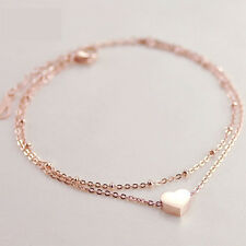 Love Heart Women Bracelet Sexy Foot Anklet Double Layer Chain Ankle