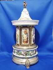 """Capodimonte  Carousel Swiss Musical Movement Tune: """"THE GODFATHER """"  Collectible"""