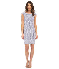 NWT DONNA MORGAN Lds Sz 6 STITCH FIX Lavender Ruched Exposed Zipper Sexy Dress