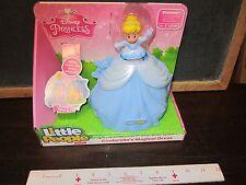 Fisher Price Little People Disney Princess Cinderella dress magical dress blue