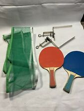 Set Of 2 Sport Craft Ping Pong Table Tennis Paddles & 1 Net F4