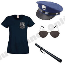 LADIES AMERICAN POLICE WOMAN COP FANCY DRESS COSTUME HEN PARTY OUTFIT.
