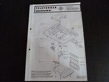 Original Service Manual Telefunken Recorder HCC 6B Hifi Plattenspieler S400 hifi