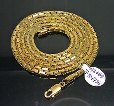 Real Genuine 10k Yellow Gold Roller chain 30Inches,A20B8 Lobster Lock,Rope,Cuban