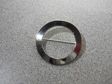 Vintage  - PAYNE & BAKER Sterling Silver - OPEN CIRCLE - Brooch - Pin