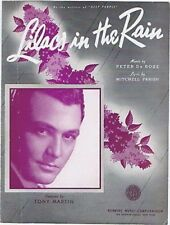 Lilacs in the Rain, Tony Martin,1939 Vintage Sheet Musi