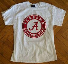 Alabama Crimson Tide Classic White T Shirt Adult-Large, NCAA-Football-Basketball