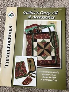 """Thimbleberries """"Quilter's Carry-All & Accessories"""" pattern, new"""