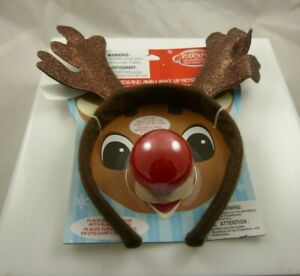 Rudolph the red nosed reindeer Headband and light up red nose Christmas