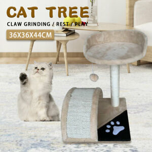 44cm High Simple  Cat Tree Tower Cat Sisal Scratching Post Kitten Climbing Frame