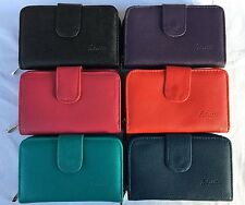 -Ladies Fabretti Soft Leather Purse Credit Card Holder Wallet Coin Purse 33519