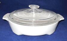 "Vintage Corning Ware 10"" MW-17-B Round White Casserole Microwave Browning Dish"