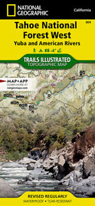 National Geographic Trails Illustrated CA Tahoe National Forest West Map 804