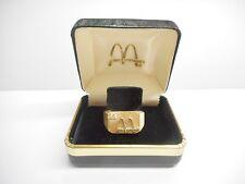 10k Yellow Gold McDonald's .08 TCW Diamond Service Award Ring Sz 9.25 #3048