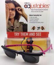 ADLENS SUNDIALS Adjustables Sunglasses Rx range +3.00 to -6.00 Black&Pink w/Grey