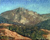 "Impressionist Mountain Landscape Oil Painting, 16""x20"" Original Signed"