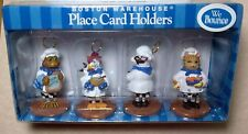 BOSTON WAREHOUSE Cute Menu Place Card Holders FROG CHICKEN COW CAT
