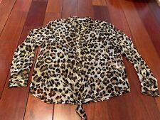 Equipment Leopard Silk Blouse Small
