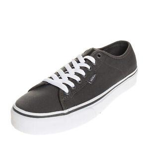 VANS FERRIS Canvas Sneakers Size 40.5 UK 7 US 8 Grommets Logo Two Tone Lace Up