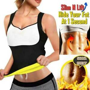 Hot Sweat Tummy Shapewear For Women Weight Loss Sauna Shaper Slim Sport Vest Top