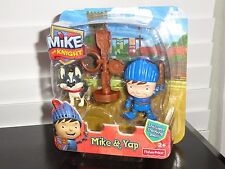 FISHER-PRICE MIKE THE KNIGHT - MIKE & YAP FIGURES WITH TRAINING POST