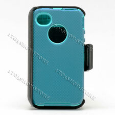 iPhone 4/4s Case w/Holster Belt Clip fits Otterbox Defender Case (Blue/Teal) New