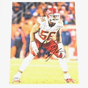 DERRICK JOHNSON signed 11x14 photo PSA/DNA Kansas City Chiefs Autographed