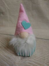 New! MINI Plush VALENTINE'S GNOME Shelf Sitter Doll Fall Decor Green Pink Heart